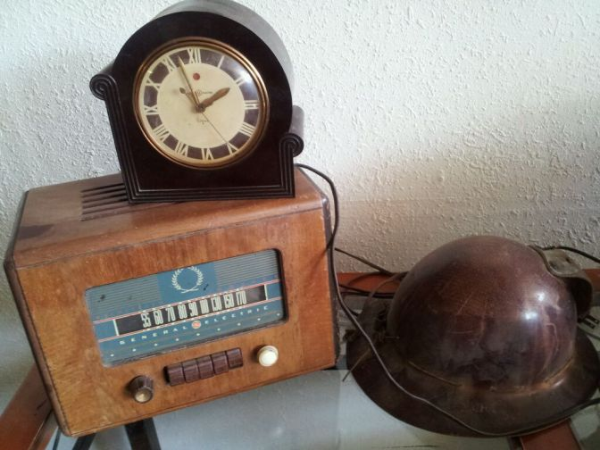 Old clock and radio